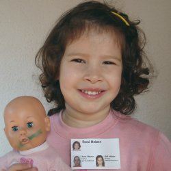 Example of a child ID card