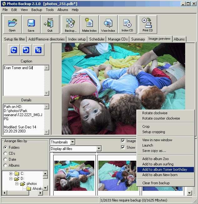 Photo Backup (Win98/Me)